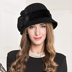 Women's Lace Flax Wool Net Headpiece-Wedding Special Occasion Casual Fascinators Hats 1 Piece