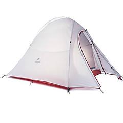 NatureHike® 2 אנשים אוהל מחסה וברזנט כפול חדר אחד קמפינג אוהל סיבי זכוכית עמיד למים עמיד אולטרה סגול ייבוש מהיר מוגן מגשם מאוורר היטב-