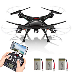 SYMA X5SW FPV Drone With 3 Batteries 6 Axis 4CH 2.4G RC QuadcopterLED Lighting / Auto-Return / Headless Mode / 360°Rolling / Access Real-Time