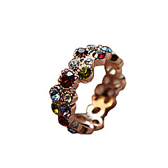 指輪 日常 / カジュアル ジュエリー 合金 / ラインストーン 女性 ステートメントリング 1個,8 混色