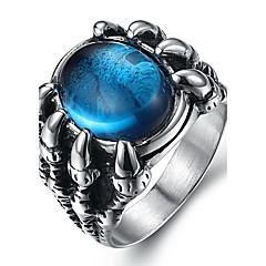 Pánské Prsteny s kamenem Prsten Módní bižuterie Drahokam Titanová ocel Šperky Pro Denní Ležérní
