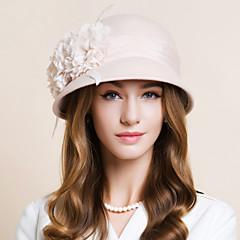 成人用 羽毛 シフォン ウール かぶと-結婚式 パーティー カジュアル ヘッドドレス ハット 1個
