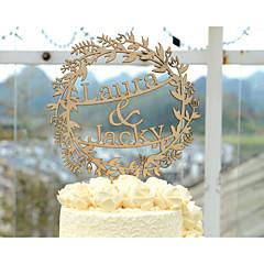 Kakepynt Personalisert Klassisk Par Akryl Krom Kort Papir Bryllup Jubileum Gul Klassisk Tema Vintage Tema Rustikk Tema Polyester Veske