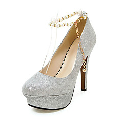Women's Heels Spring Summer Fall Other Glitter Wedding Party & Evening Casual Stiletto Heel Pearl Sequin Chain Black Red Silver Gold