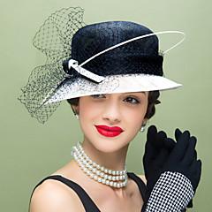 Mulheres Penas Linho Rede Capacete-Casamento Ocasião Especial Casual Fascinador Chapéus 1 Peça