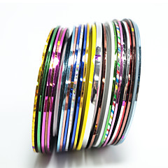 20pcs/set Nagel-Kunst-Aufkleber Lace-Aufkleber 3D Nails Nagelaufkleber Folie Stripping Band Make-up kosmetische Nagelkunst Design