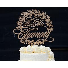 Tortenfiguren & Dekoration individualisiert Klassisches Paar Acryl Chrom Hartplastik Jubliläum Hochzeit Gold Silber GelbBlumen Thema
