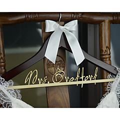Personalized Wedding Hanger Bridal Bridesmaid Wood Name Wedding Dress Hanger Shower Gift
