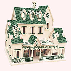 Puzzle Dřevěné puzzle Stavební bloky DIY hračky Slavné stavby Čínské stavby Dům 1 Dřevo Křišťálový Modelování