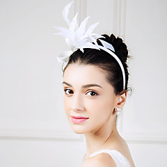 Women's Feather Flax Headpiece-Wedding Special Occasion Casual Fascinators Flowers 1 Piece