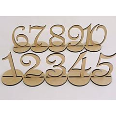Dřevo Tabulka Center Pieces-Nepřizpůsobeno držáky jmenovek 10 Piece / Set