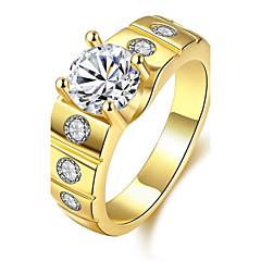 טבעת זירקונה מעוקבת זירקון זירקוניה מעוקבת נחושת מצופה כסף ציפוי זהב משובץ זהב ורוד אופנתי זהב כסף ורד תכשיטים יומי קזו'אל 1pc