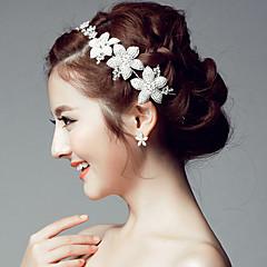 Femme Strass Alliage Casque-Mariage Occasion spéciale Tiare Serre-tête Chaîne pour Cheveux 1 Pièce
