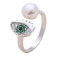 Női Gyűrű Gyöngyutánzat Kocka cirkónia Divat Állítható Nyitva luxus ékszer Gyöngy Gyöngyutánzat Cirkonium Hamis gyémánt Ékszerek
