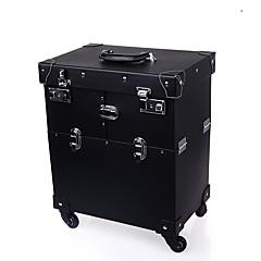 Cosmetic Bag Solid Quadrate PVC Black Normal 38*25*42cm