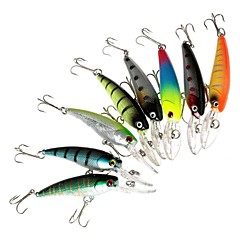 "8 Stück Harte Fischköder kleiner Fisch Angelköder Harte Fischköder kleiner Fisch Verschiedene Farben g/Unze,90 mm/3-1/2"" Zoll,Fester"