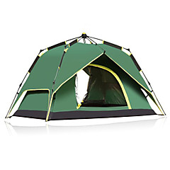 CAMEL 3-4 사람 텐트 더블 베이스 캠핑 텐트 원 룸 자동 텐트 자외선 방지 비 방지 통기성 용 캠핑 1500-2000 mm CM