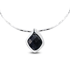 SILVERAGE Necklace Choker Necklaces Jewelry Party Geometric Unique Design Sterling Silver Women 1pc Gift Silver
