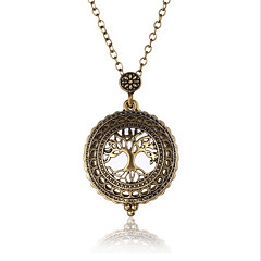 5 Times Vingate  Magnifying Glass Pendant Necklace Word Map Tree Elephant Pocket Watch Time Collar     Collier