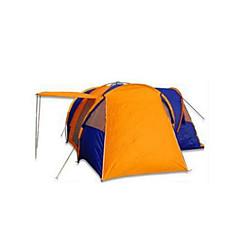 >8 osob Stříška Dvojitý Rodinné stany čtyři pokoje Camping Tent PolyesterVoděodolný Prodyšnost Odolné vůči dešti Odolný vůči větru