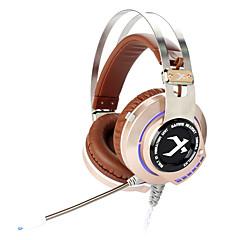 xiberia K2 počítačové herní sluchátka s mikrofonem zářící USB LED sluchátka pro PC hráče prostorového zvuku chvění ecouteur