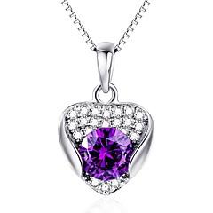 Kolye Uçları Kristal Kristal Simüle Elmas Avusturya Kristali Basic Tasarım Aşk Kalp Mücevher Uyumluluk Günlük