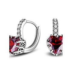 2017 Fashion Luxury 18K White Gold AAA Zircon Stud Earrings Wedding Jewelry For Women