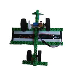 צעצועים לבנים צעצועי דיסקברי צעצועים המופעלים באנרגית השמש מכונית פלסטיק מתכת ירוק