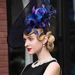 len Přílba-Svatba Zvláštní příležitost Neformální Outdoor Ozdoby do vlasů Klobouky Jeden díl