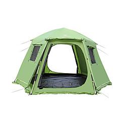 5-8 사람 텐트 더블 베이스 가족 캠프 텐트 원 룸 캠핑 텐트 폴리에스터 방수 호흡 능력 바람 방지-하이킹 캠핑 여행 야외
