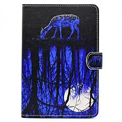 Für mit Halterung Muster Hülle Handyhülle für das ganze Handy Hülle Tier Hart PU - Leder für Apple iPad Mini 4 iPad Mini 3/2/1