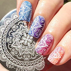 1 Pc Round 5.5cm Nail Art Stamp Template Nail Stamping Plate