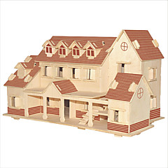Puzzle Sada na domácí tvoření Stavební bloky 3D puzzle Vzdělávací hračka Puzzle Dřevěné puzzle Stavební bloky DIY hračkyČtvercový Slavné