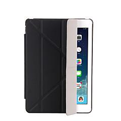 Pro se stojánkem Automatické probouzení Flip Průsvitný Origami Carcasă Oboustranný Carcasă Jednobarevné Pevné PU kůže pro AppleiPad