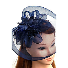Feder Tüll Netz Kopfschmuck-Hochzeit Besondere Anlässe Kopfschmuck Mützen Netzschleier 1 Stück