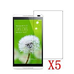 태블릿 PC 8 huawei mediapad m1 / s8-303에 대 한 5pcs 분명 lcd 화면 보호자 보호 필름
