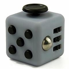 reliever Angst Fidget Würfel kubische Würfel zappeln Spielzeug für die Fokussierung / Spannungsarmglühen abs --gray&schwarz