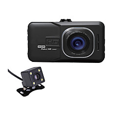 Carro dvr câmera carro híbrido came camara registrador de vídeo câmeras duplas 1080p full hd ângulo de 170 graus g-sensor auto camcorder