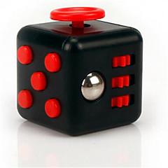 reliever Angst Fidget Würfel kubische Würfel zappeln Spielzeug für die Fokussierung / Spannungsarmglühen abs - schwarz&rot