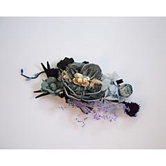 Alliage Molleton Mousseline Casque-Mariage Occasion spéciale Extérieur Fleurs 1 Pièce