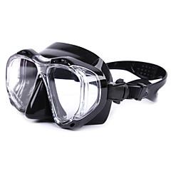Máscaras de mergulho Impermeável Refletivo Protecção Mergulho e Snorkeling Vidro Silicone