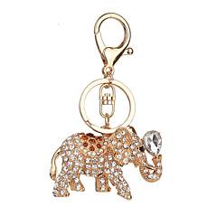 Nøglering Elefant Nøglering Sølv Elfenbenshvid Brun Metal