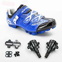 BOODUN/SIDEBIKE® Tênis Tênis para Mountain Bike Sapatilhas de Ciclismo com Travas & Pedal Unisexo Almofadado Bicicleta De MontanhaMalha