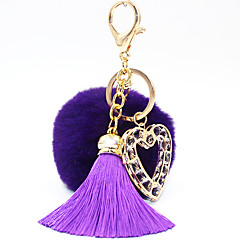 Key Chain サーキュラー ハート型 Key Chain ダークブルー シルバー 黒フェード アイボリー グレー レッド メタル