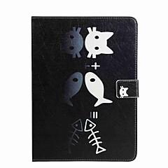 Para Porta-Cartão Carteira Com Suporte Flip Estampada Capinha Corpo Inteiro Capinha Gato Rígida Couro PU para AppleiPad Pro 9.7 '' iPad