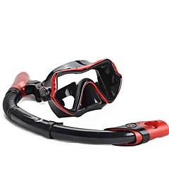 Snorkels Impermeável Mergulho e Snorkeling Neopreno Fibra de Vidro