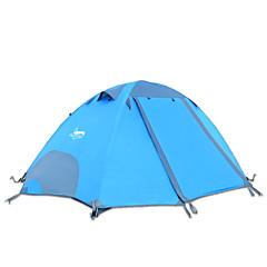 2 사람 텐트 더블 베이스 접이식 텐트 원 룸 캠핑 텐트 2000-3000 mm 옥스포드 방수-캠핑-