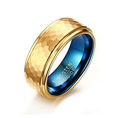 Ring Basisontwerp Modieus PERSGepersonaliseerd Euramerican Eenvoudige Stijl Verguld Wolfraamstaal Cirkelvorm Ronde vorm Geometrische vorm