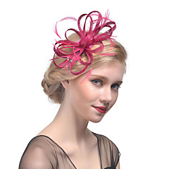 Women's Retro Feather / Tulle / Net / Rhinestone Headpiece-Wedding / Special Occasion Flower Fascinators Bride Headbands 1 Piece Hair Accessories