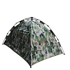 2 사람 텐트 더블 베이스 캠핑 텐트 원 룸 자동 텐트 방수 휴대용 용 하이킹 캠핑 1500-2000 mm 유리 섬유 옥스포드 CM